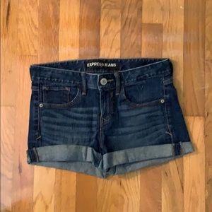 Express Jean shorts - Dark Wash